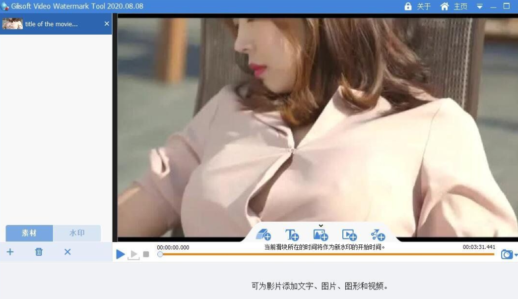 视频去水印软件v2020.08.08 中文特别版(Gilisoft Video Watermark Removal Tool)