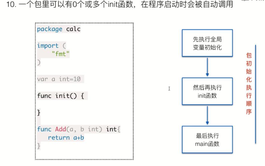 golang init 函数笔记